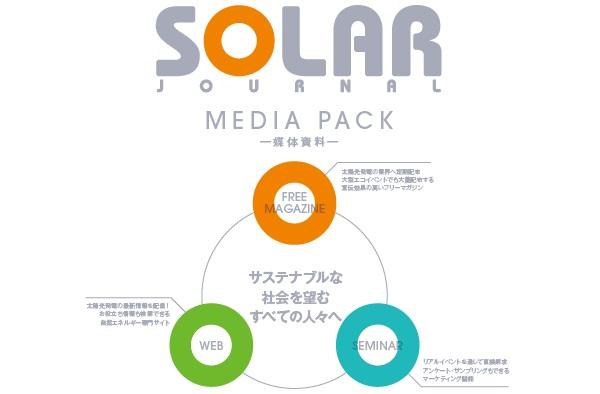 再生可能エネルギー推進を目的とした日本唯一の総合メディア『SOLAR JOURNAL』媒体資料/広告掲載/広告資料