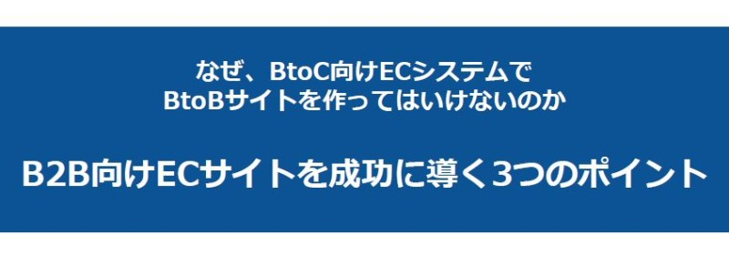 ECサイトプロジェクト担当者必読「なぜBtoC向けECシステムで BtoBサイトを作ってはいけないのか」