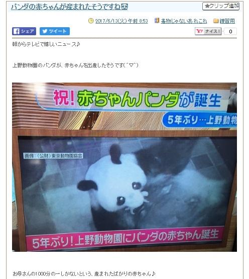 上野パンダに関するクチコミ①