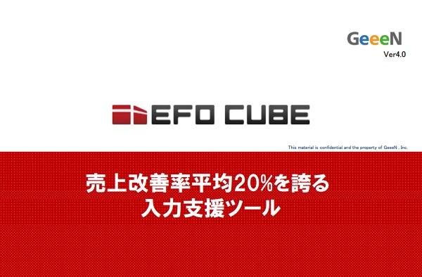 エントリーフォーム入力補助とデータ解析でコンバージョンを最大化!「EFO CUBE」のご案内