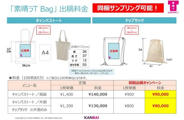 「素晴ラT Bag」出稿料金